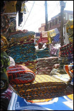 Wax sur le marché au Nigéria