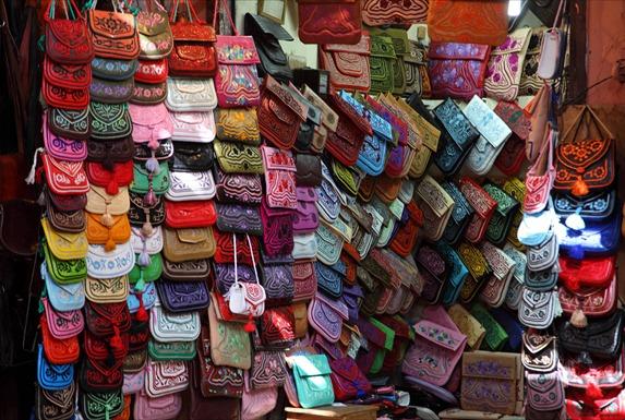sacs brodés au Maroc