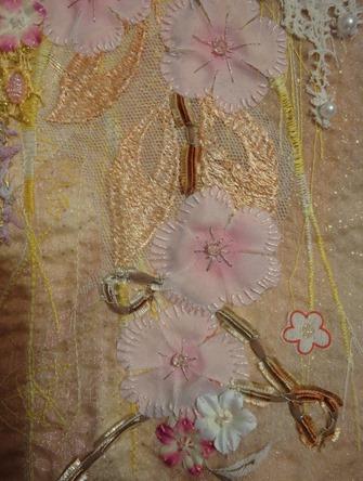 Tableau textile réalisé lors d'un cour avec Ina Statescu (détail)