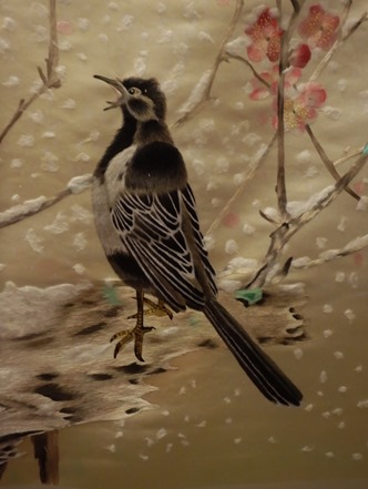 broderie Xiang oiseaux détail