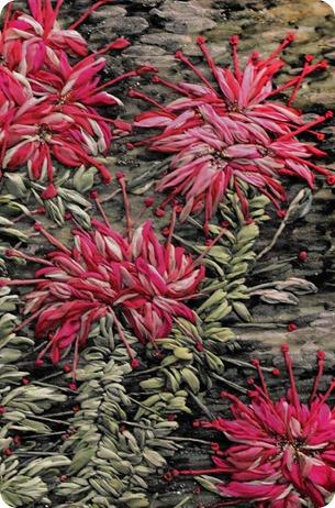 Fleurs en broderie ruban par Michiko Nomura 2