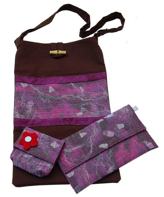 sac, pochette et porte monnaie DIY par couture et arts textiles
