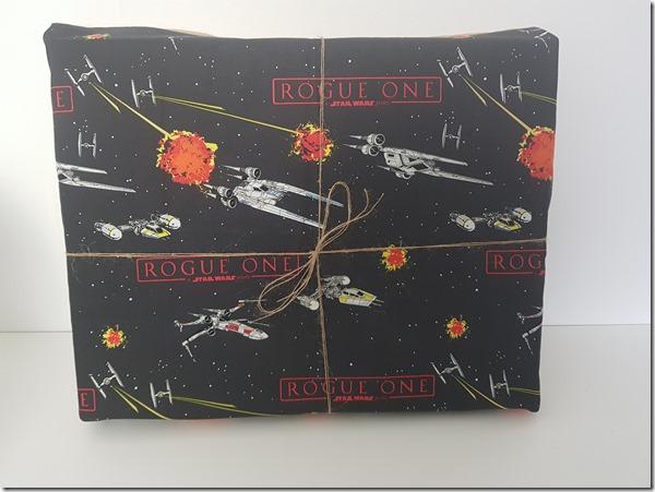 emballage cadeau zéro déchet tissu univers star wars
