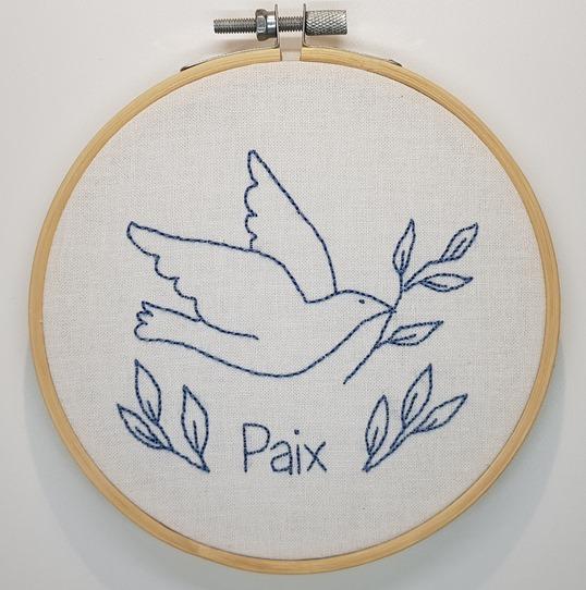 broder un symbole de paix