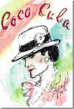 Aquarelle Coco Chanel par Karl Lagerfeld