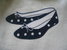 détail ballerines bleu M