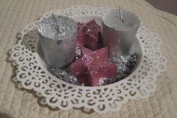 décoration bougies plat blanc ajouré