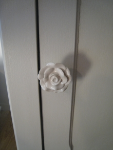 bouton de porte fleur porcelaine