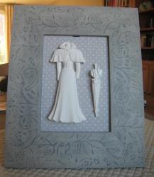 cadre tissu et platre