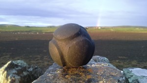 Carved Stone Ball, similar to one found at the Ness of Brodgar, made by Christopher Gee
