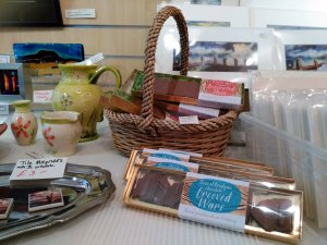 Brodgar chocolate happily nestled among other Orkney products at Artworks of the Earth.