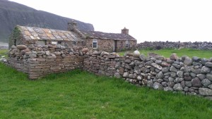 The picturesque traditional cottage now serving as an open bothy at Rackwick, Orkney.