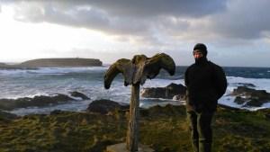 Birsay whalebone and Brough of Birsay