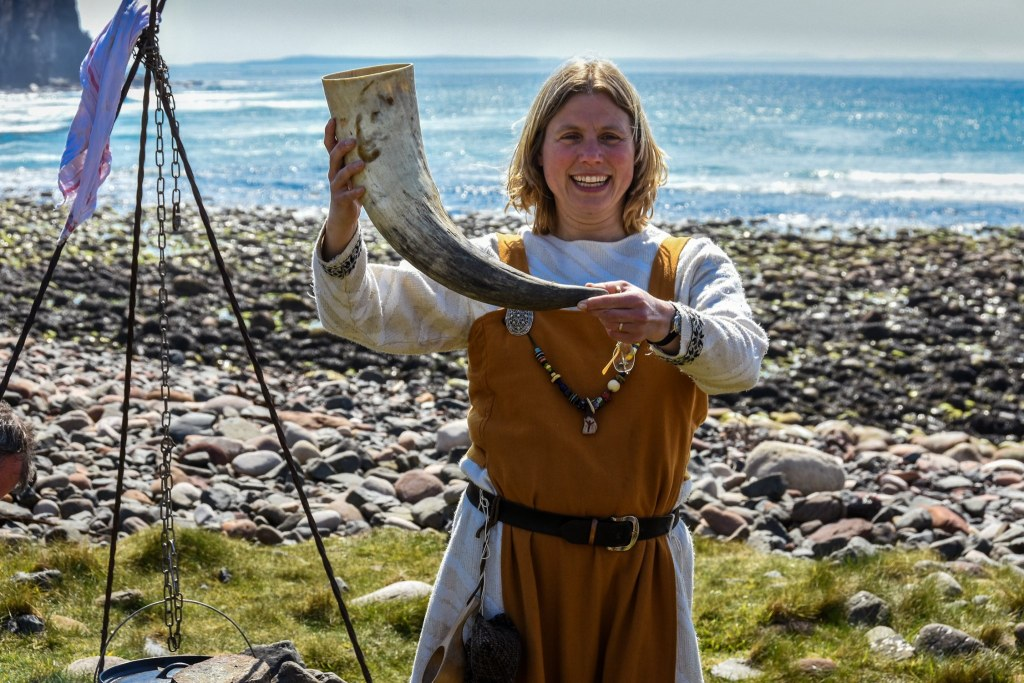 Viking Feast on the Beach / Viking Voyage to Hoy. Orkney Time Travel