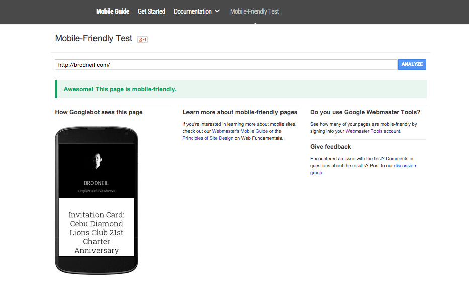 check if your site is mobile friendly for google