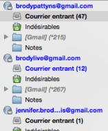 Mes adresses mails