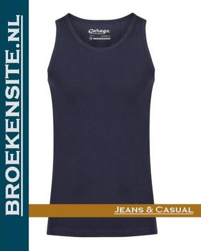 Garage Singlet Semi Bodyfit navy G 0401-NV Broekensite jeans casual