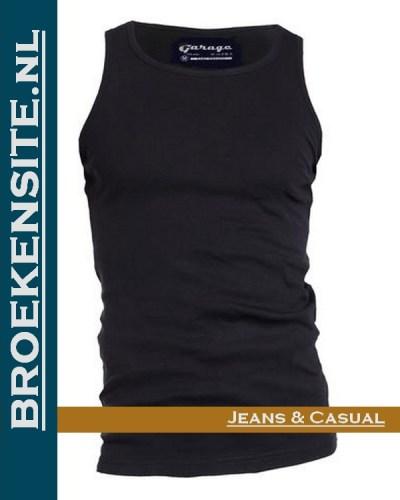 Garage Singlet Semi Bodyfit zwart G 0401-ZW Broekensite jeans casual