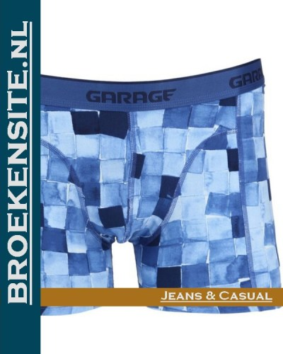 Garage boxershort Hawaii blue G 0802-HB Broekensite.nl jeans casual