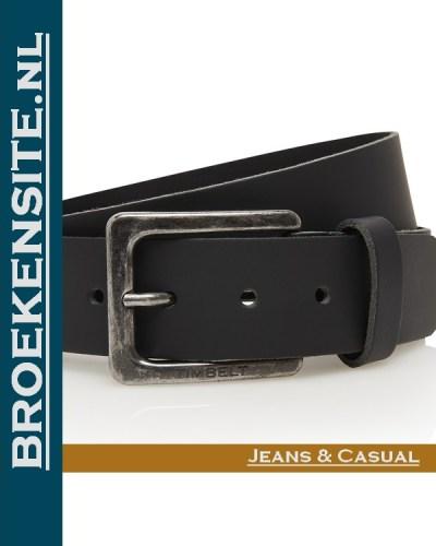 Riem Prestige handgemaakt zwart TB 421-ZW Broekensite jeans casual