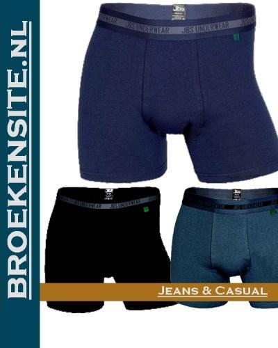 Bamboo Boxershort JBS zwart-grijs-blauw (3-pack) JDS 11080 gr-zw-bl Broekensite