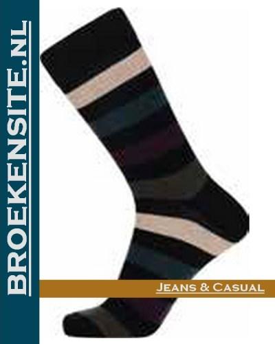 JBS Sokken zwart met lijnen JBS 2000 8100 2238 Broekensite