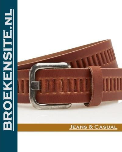 Riem Quality handgemaakt cognac TB 427-CO Broekensite jeans casual