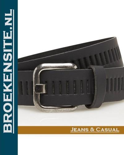 Riem Quality handgemaakt zwart TB 427-CO Broekensite jeans casual
