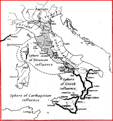 Etruscan Sphere of Influence (handout) Hills of Rome
