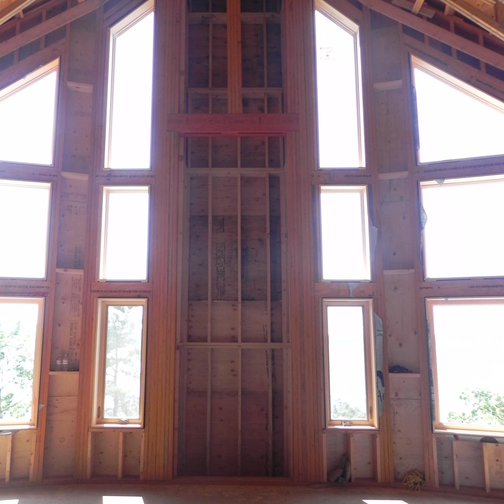 Mill Lake Cottage Fireplace Framing