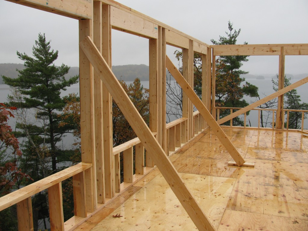 Mill Lake Cottage Main Floor Walls Going Up