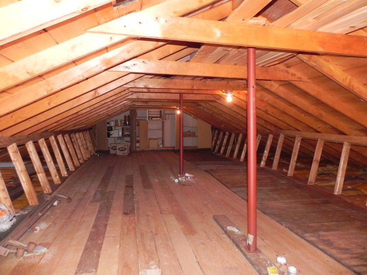 Blackstone Lake Cottage Renovation Existing Interior of Attic