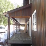 Rosseau Covered Porch Rebuild - Existing Right Side View
