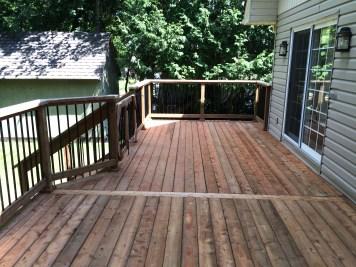 Innisfil Deck Rebuild - After Construction New Decking