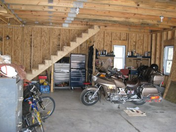 Partridge Bay Garage After Construction Unfinished Interior