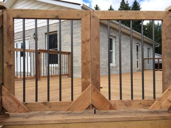 Uxbridge Deck - After Construction Stair Gate
