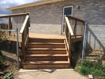 Uxbridge Deck - After Construction Stairs at Right End