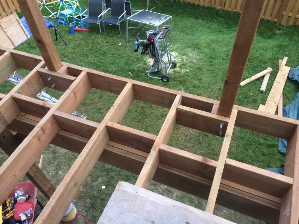 Newmarket Deck During Construction Guard Blocking