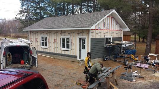 Whitestone Garage - During Construction Rear Corner View