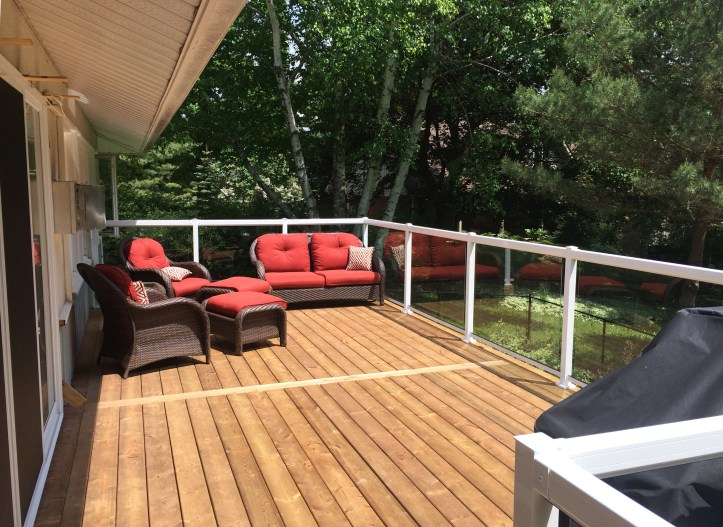 Sutton Deck - After Construction Looking Left with Outdoor Furniture