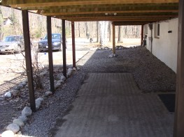 Tiny Deck Before Construction Under Deck Showing Relocated Posts