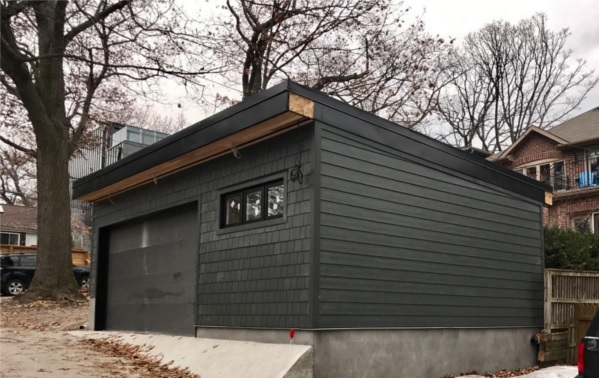 Toronto Upr Beach Laneway Garage After Construction Front Right Corner View