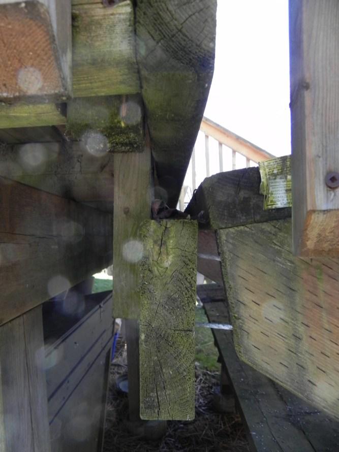 Elm Ave Deck - Before Construction Stair Landing Ledger