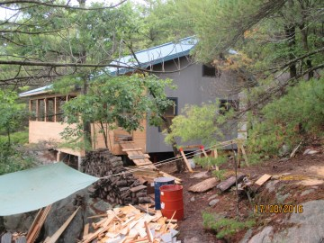 NML Cottage - During Construction - Rear 2