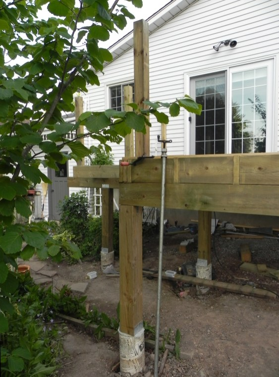 Niagara Deck - During Construction Front View 1