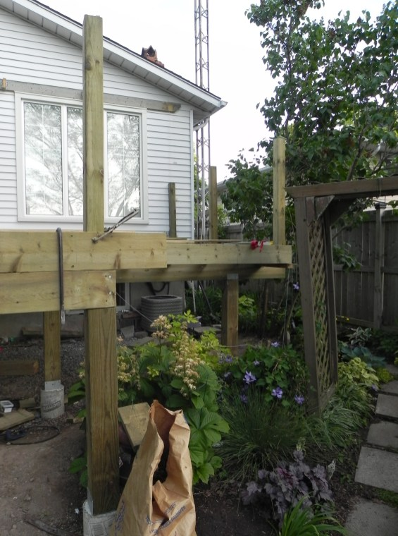 Niagara Deck - During Construction Front View 2