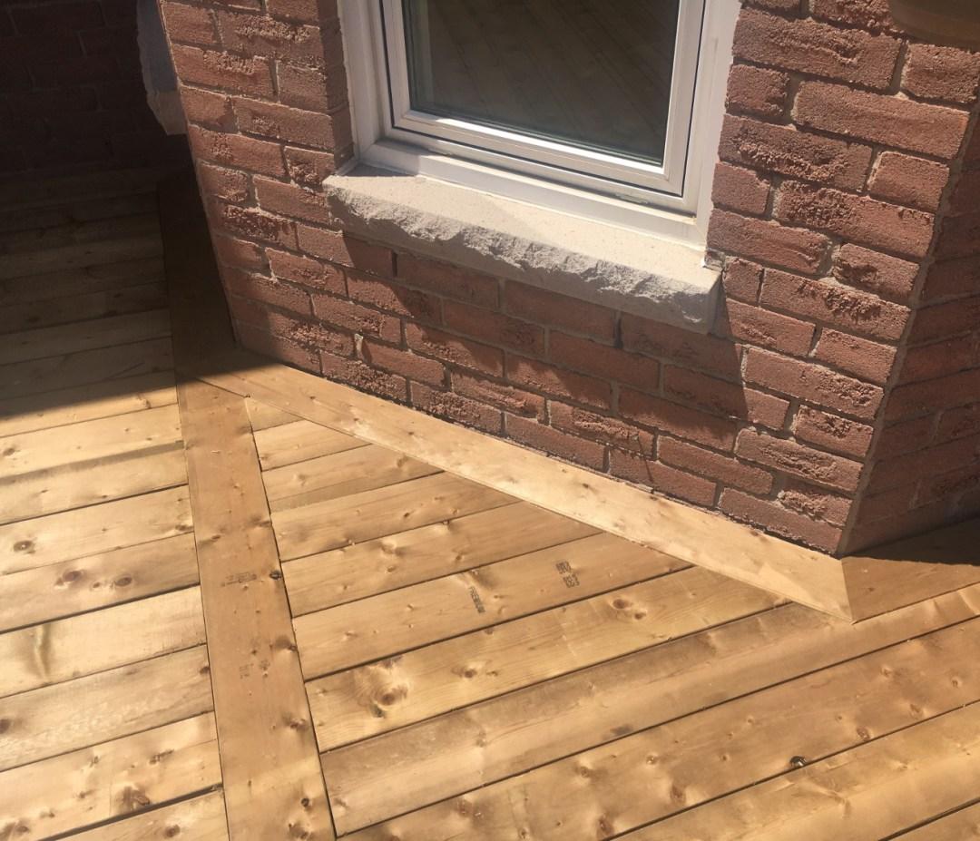 Grovepark Deck - After Construction Spline From Deck