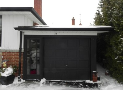 Etobicoke Addition & Reno - Before Construction Garage Front