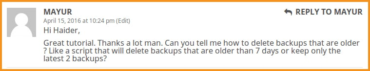 How to delete backups that are older