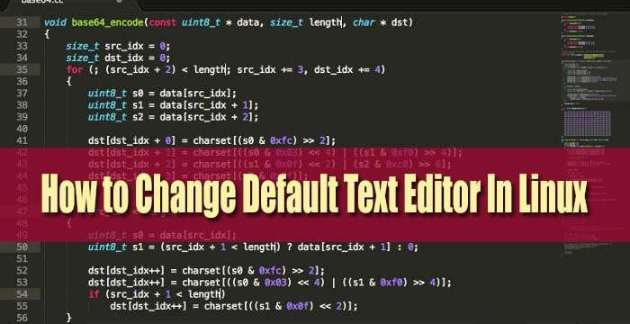 How to Change Default Text Editor In Linux